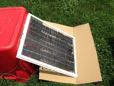 Solar Panel Mirror Test High Amps More Free Power Diy