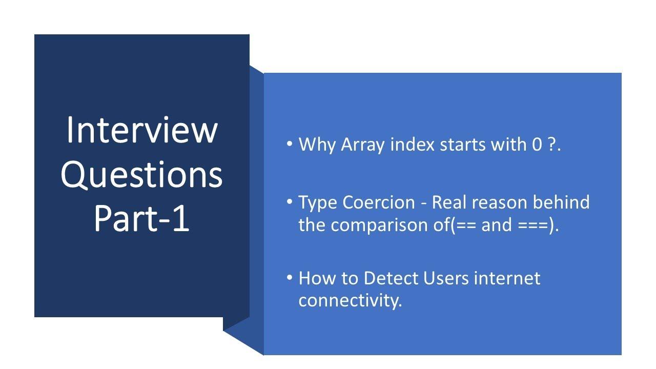 Frontend Web developer Interview Questions Part 1