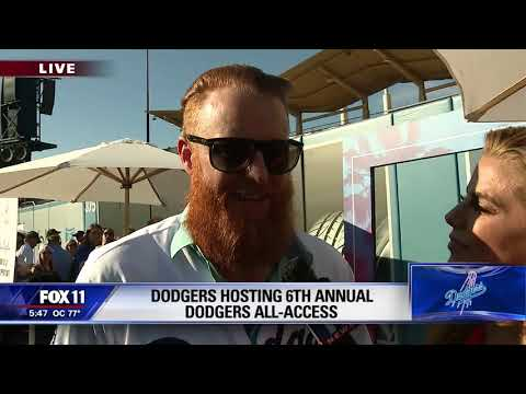 Dodgers Justin Turner reacts to pitchers throwing at Dodgers batters. Live on my 5pm Sportscast