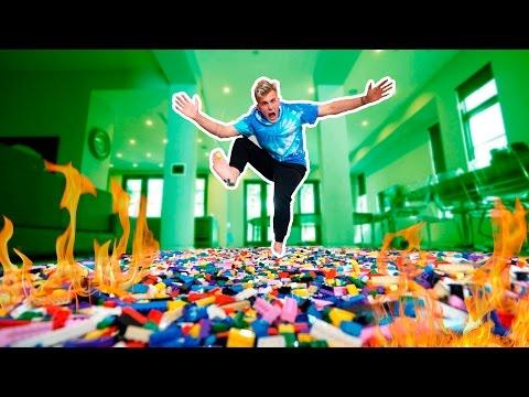WALKING ON 1 MILLION BURNING LEGOS (PAIN GAME)