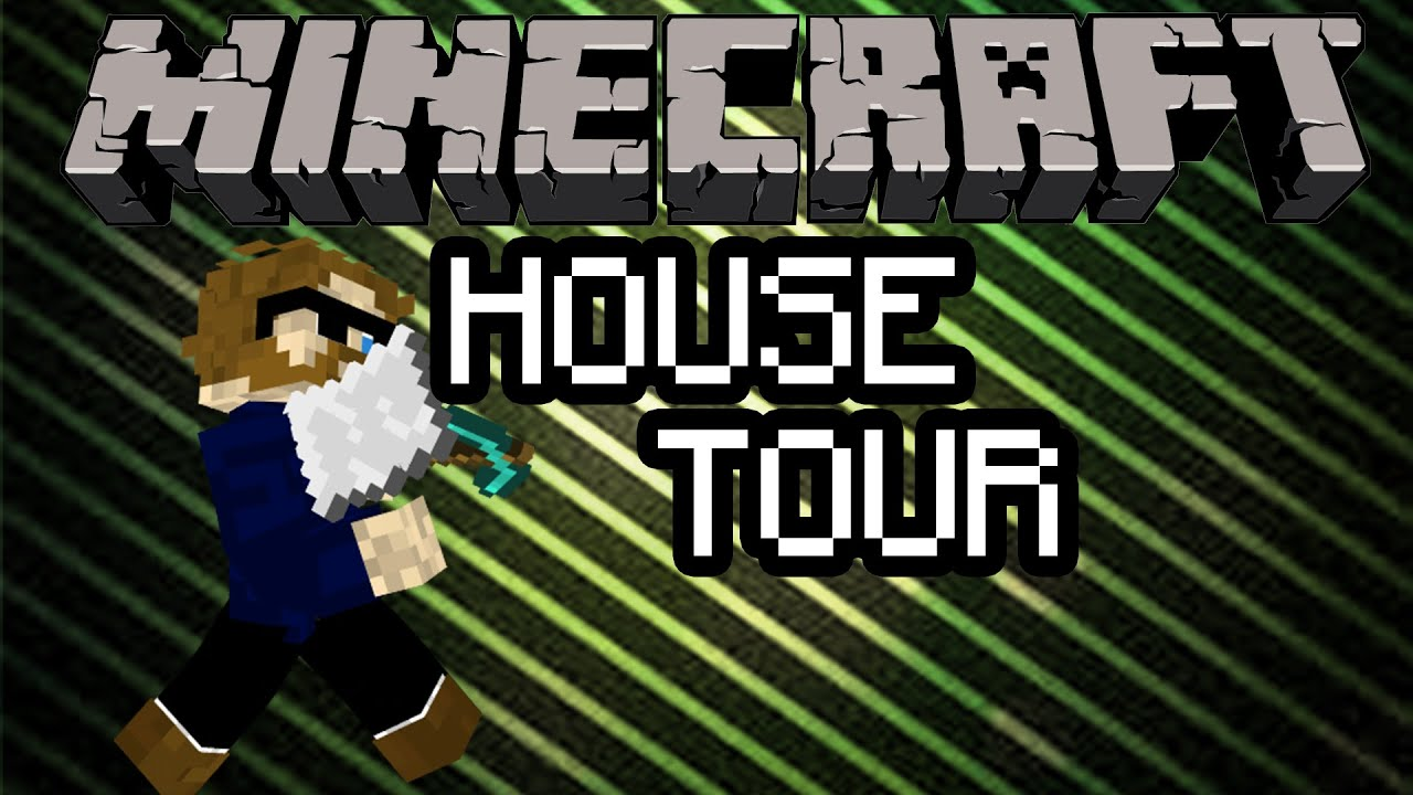 Minecraft 12x12 modern house tour youtube for Minecraft big modern house tour