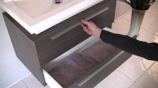 Fvn8080go - Fresca Medio Gray Oak Modern Bathroom Vanity W/ Medicine Cabinet