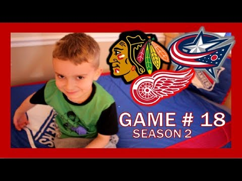 KNEE HOCKEY GAME # 18 - BLACKHAWKS / RED WINGS / BLUE JACKETS - SEASON 2 - QUINNBOYSTV