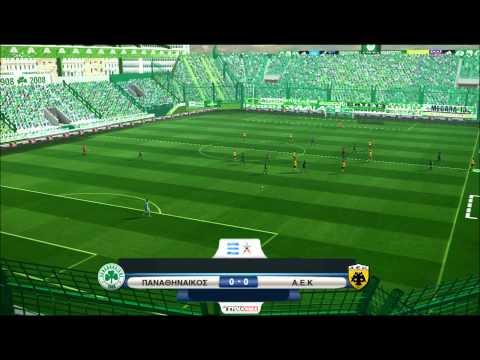 Panathinaikos vs A.E.K (Stadium Apostolos Nikolaidis - Leoforos) [PES 2013] ProGamerZ Ultimate Patch