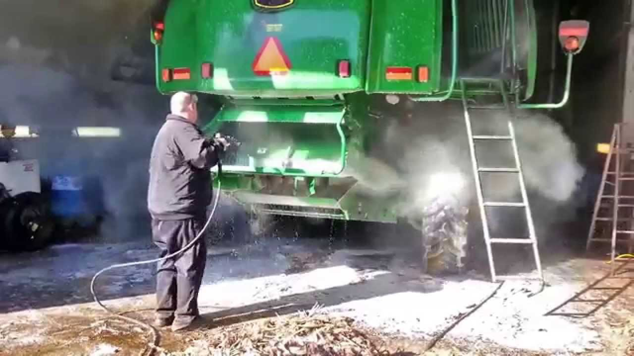 Pressure Washing A John Deere Combine In A Fraction Of The