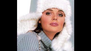 Женские вязаные шапки ушанки 2018 / Women's knitted hats with earflaps