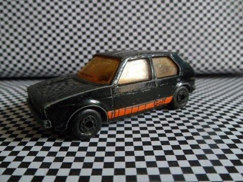 Volkswagen Golf MK1 Matchbox black (car review) VW Rabbit 1