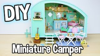 DIY Miniature Dollhouse Kit Cute Camper Room with Working Lights! / Relaxing Craft