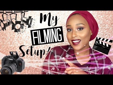 YouTube 101: MY FILMING SET UP | Camera, Lighting & Backgrounds