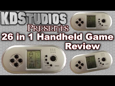 26 in 1 (Known as 9999 in 1 LCD Brick Game) Handheld Game Review