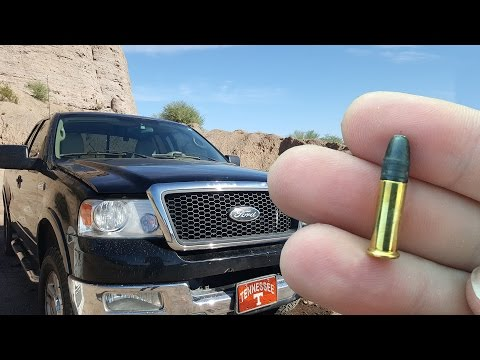 Will a.22 Go Through a Windshield? - Slow Motion