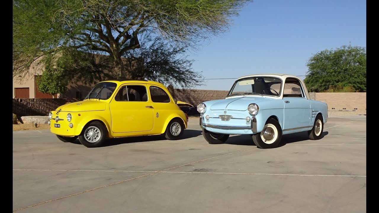 1960 Autobianchi Bianchi & 1972 Abarth 695 SS & Engine Sounds on My Car  Story with Lou Costabile