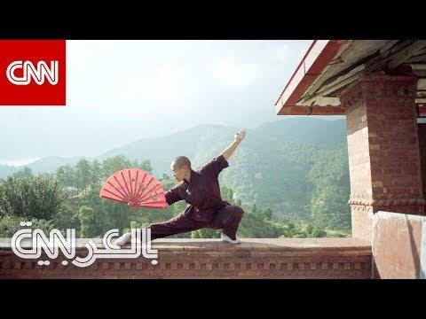 راهبات يمارسن الفنون القتالية المميتة بدير في نيبال  - 10:54-2019 / 8 / 12