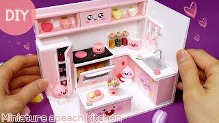 [DIY Miniature kitchen -  Apeach ]주방에 복숭아향기 가득! 이번엔 주방이다!! 미니어쳐 어피치 주방을 만들어 봅시다