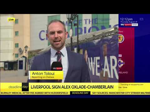 #DEADLINEDAY  ALEX OXLADE CHAMBERLAIN SIGNS FOR LIVERPOOL  ARSENAL WILL ONLY SWAP SANCHEZ!!