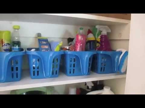Cleaning Supply Organization ~My cleaning closet