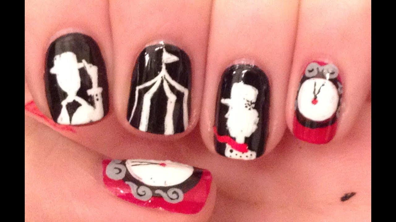 night circus nail art tutorial