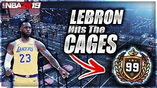 "MY LEBRON REBIRTH BUILD FOUND the ""COMP CAGES"" in NBA 2K19"