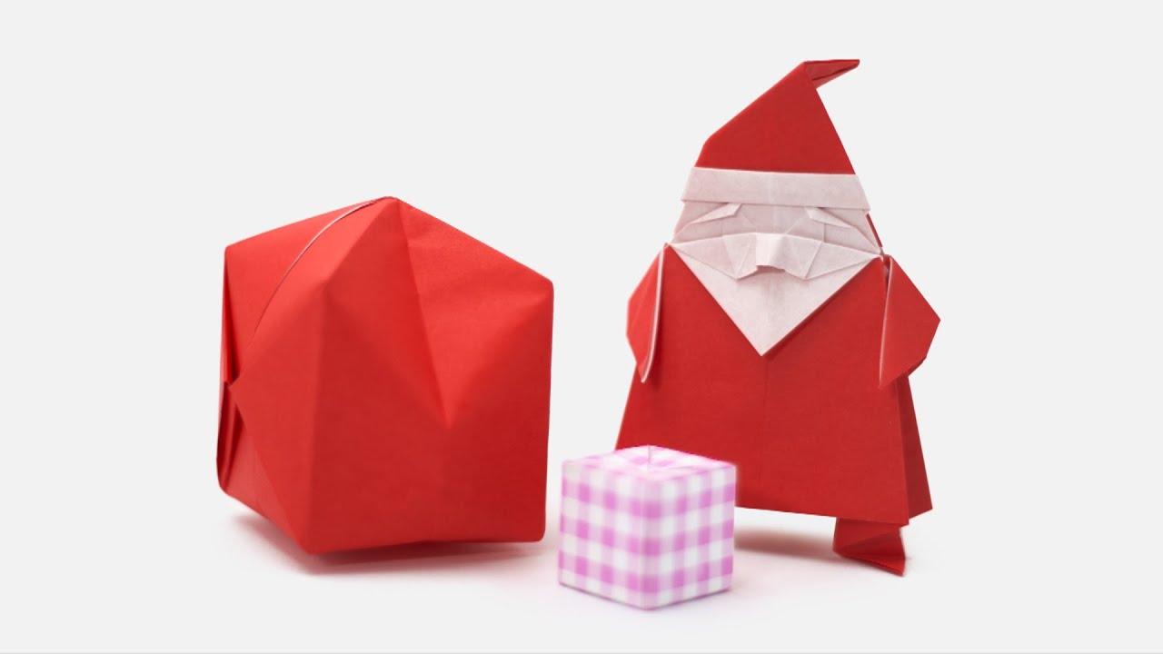 Origami santa claus jo nakashima camila zeymer youtube for Make origami santa claus