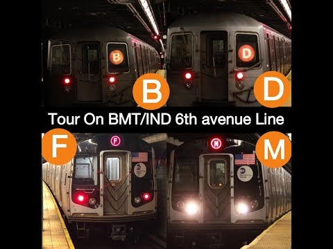 Tour On the BMT/IND 6TH avenue line