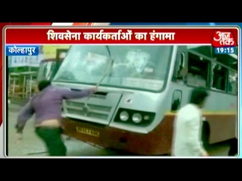 India 360: Shiv Sena workers vandalise Karnataka state-owned buses