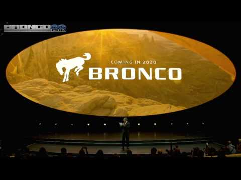 2020-2021 Ford Bronco Returning! Official Announcement From Ford Press Conference