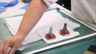 Carbon fibre pre-preg lay-up demonstration (vacuum bag and autoclave)