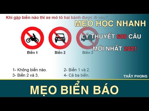 Mẹo Học Lý Thuyết Lái Xe B2 600 Câu   Mẹo biển báo   Thầy Phong