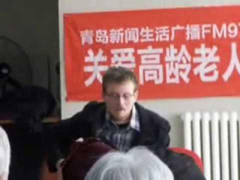 Sean Gray at the Qingdao old folks nursing home 1