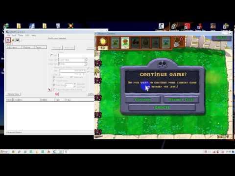 โปรเเกรมCEใช้ในเกมส์Plant V S   Zombie