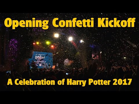 Opening Ceremony Confetti Kickoff | A Celebration of Harry Potter 2017