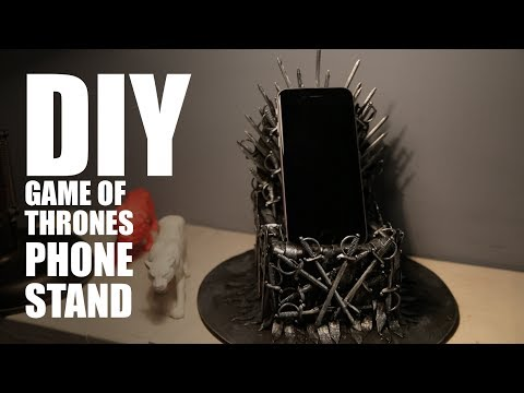 DIY Iron Throne Phone Stand | Game Of Thrones | MadstuffwithRob