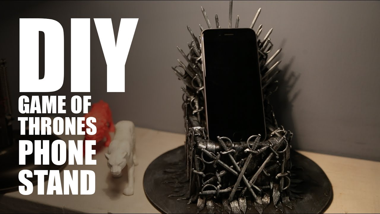How to make a DIY Iron Throne Phone Stand | Game Of ...