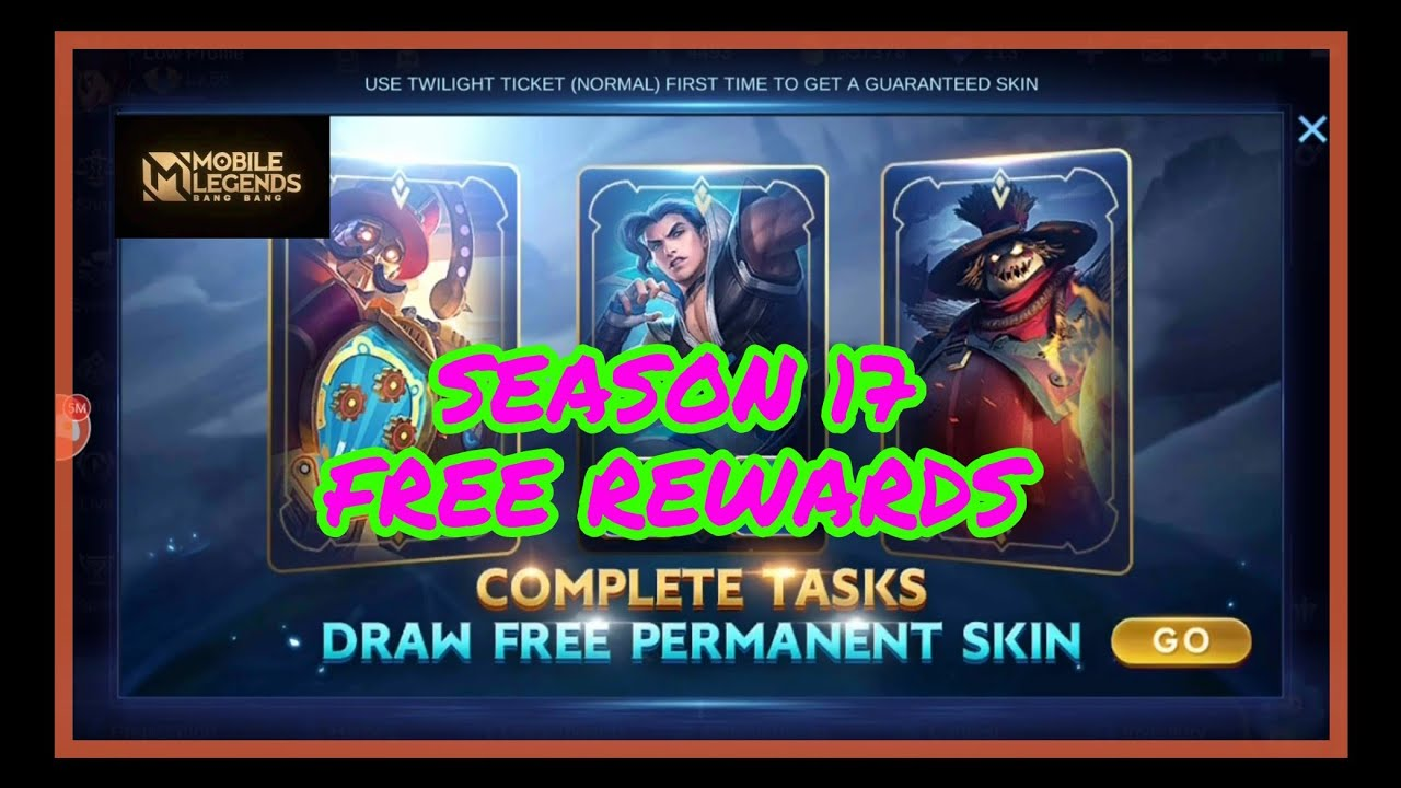 SEASON 17 FREE REWARDS AND PARTY BOX EVENT IN MOBILE LEGENDS