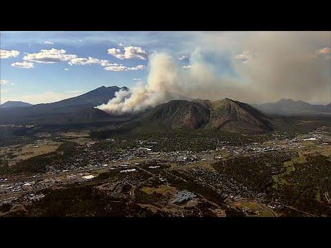 Wildfire Growing North Of Flagstaff, Arizona