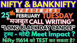 Bank Nifty & Nifty tomorrow 25th FEBRUARY 2020 Daily Chart Analysis - Option Chain Analysis