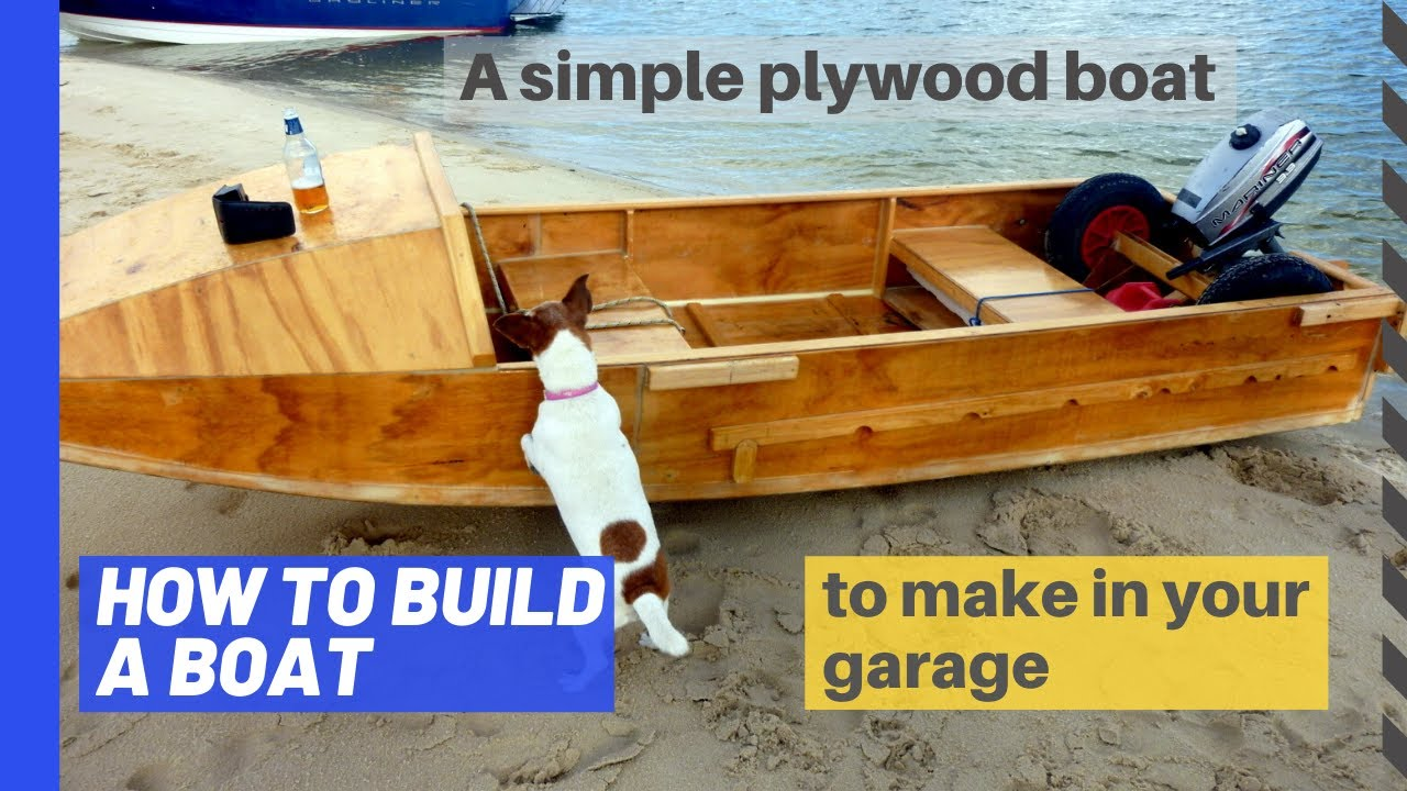 How to build a plywood boat: Part 1 - a DIY project for the garage ...