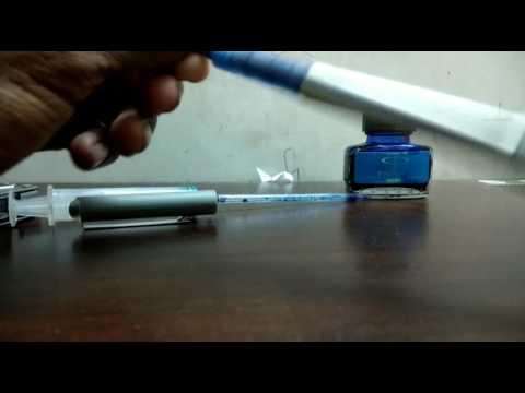 How to fill uniball eye Roller ball pen