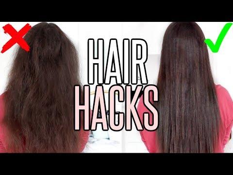 8 HAIR HACKS FOR SILKY & SMOOTH HAIR !!