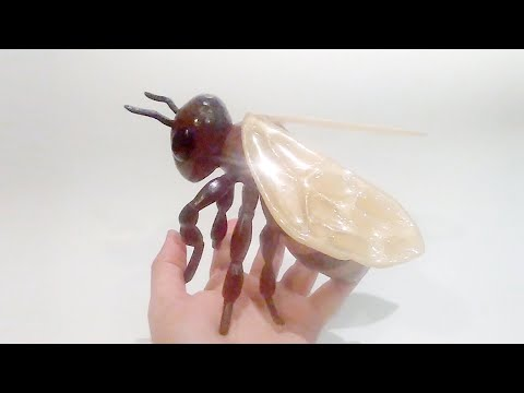 Escagedo - I Make A Honey Bee from wood and resin