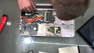 Birinchi disassembly Tizza Toshiba mening sun'iy YO'LDOSH L850-D7W (2 qism)