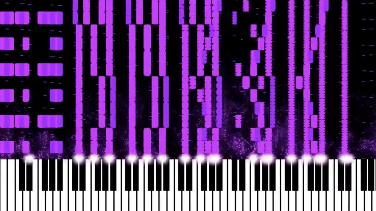 MIDI Visualizer playing Sir Spork's Flight of the Bumblebee Black MIDI