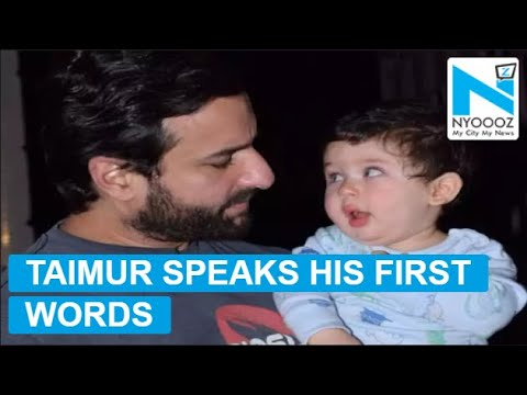 Taimur speaks his first words, daddy Saif's happiness knows no bounds
