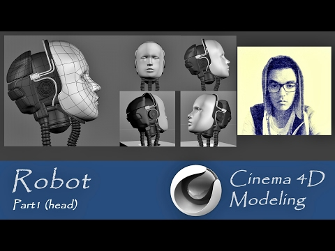 Cinema 4D - Robot modeling - Part1 (Head)