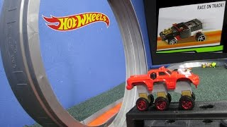 Hot Wheels Snap Rides Track Testing With Gravity Drop And A Loop!