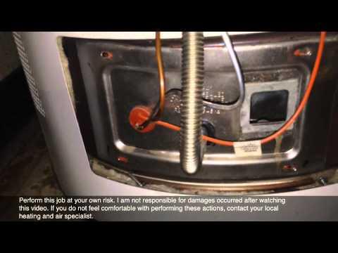 Water Heater Pilot Light Will Not Light Up Youtube
