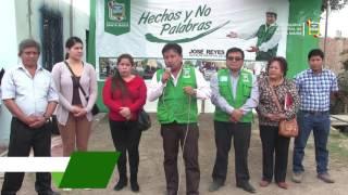 JOSÉ REYES COLOCÓ PRIMERA PIEDRA EN FUTURA OBRA DE ALCANTARILLADO EN EL PASAJE CAJAMARCA