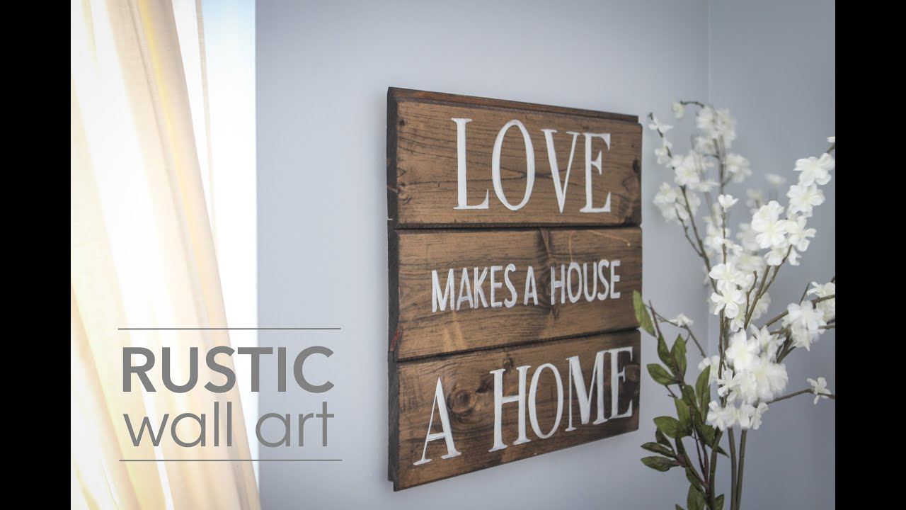 Rustic Wall Decor Adorable Diy Rustic Wall Art  Youtube Inspiration
