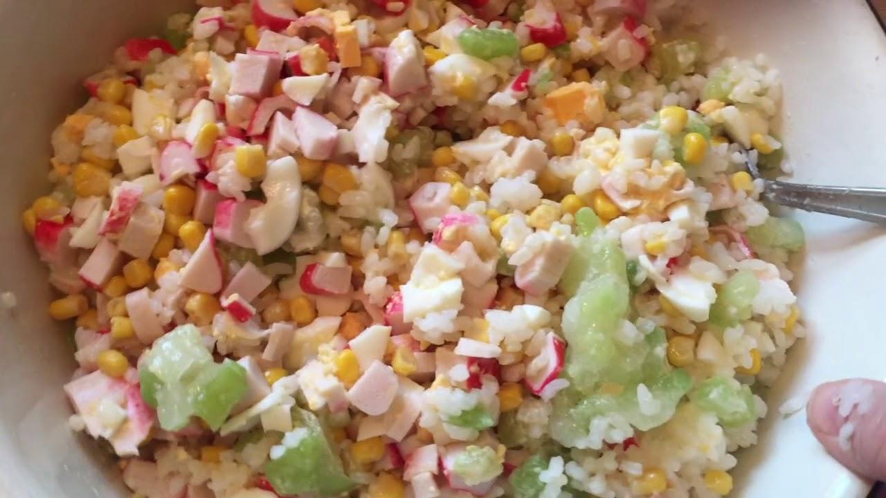 Салат с мороженными огурцами