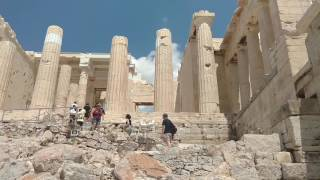 The Interior of the Acropolis of Ancient Greece (Athens)